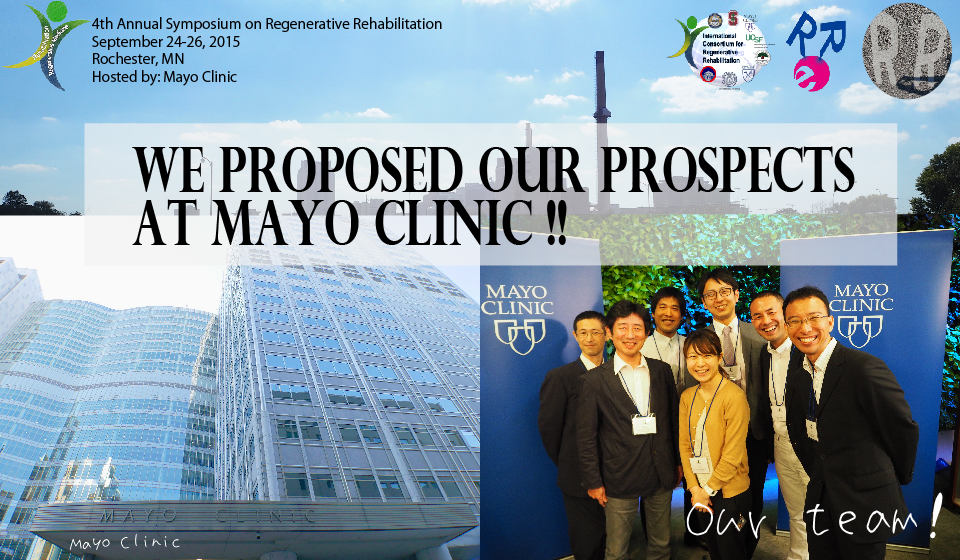 We proposed our prospects at Mayo Clinic!